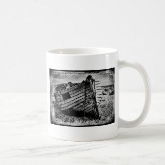 Vintage fishing boat. coffee mug