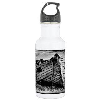 Vintage fishing boat. stainless steel water bottle