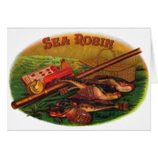 Vintage Fishing Gear Cigar Label Art, Sea Robin Card