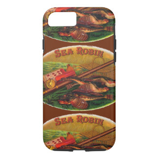 Vintage Fishing Gear Cigar Label Art, Sea Robin iPhone 8/7 Case