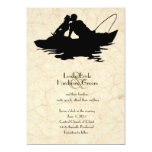Vintage Fishing Lovers Boat Wedding Invitation at Zazzle