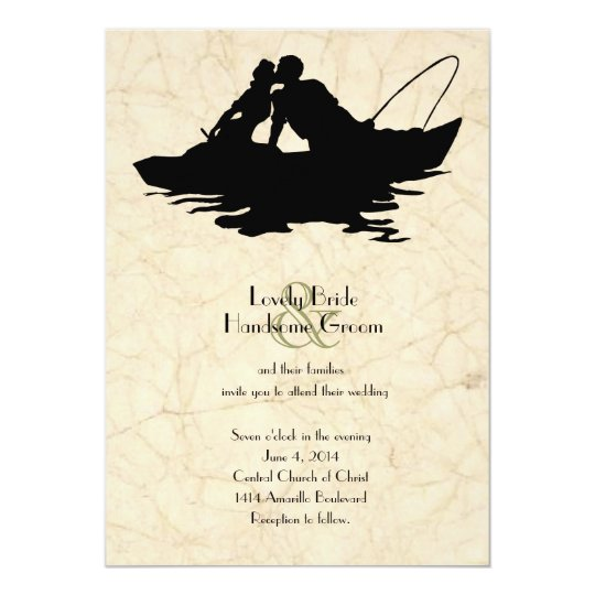 Vintage Fishing Boat Wedding Invitation