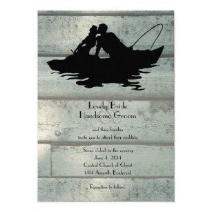 Vintage Fishing Boat Wedding Invitation