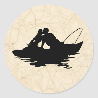 Vintage Fishing Lovers Sticker