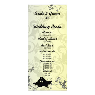 Vintage Fishing Lovers Tree Wedding Program