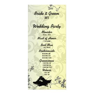 Vintage Fishing Lovers Tree Wedding Program Full Color Rack Card