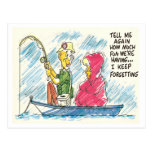 Vintage Fishing Postcard