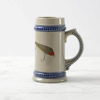 Vintage Fishmaster Jerry Sylvester Flaptail Lure Beer Stein