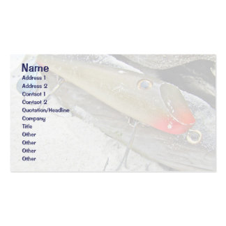 Vintage Fishmaster Jerry Sylvester Flaptail Lure Business Card Template