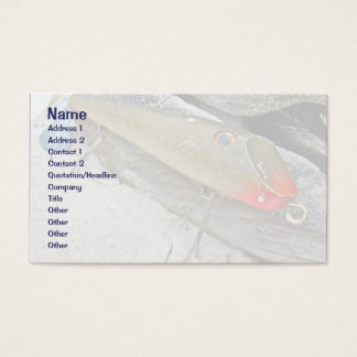 Vintage Fishmaster Jerry Sylvester Flaptail Lure Business Card