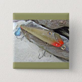 Vintage Fishmaster Jerry Sylvester Flaptail Lure Button