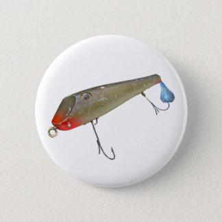 Vintage Fishmaster Jerry Sylvester Flaptail Lure Pinback Button