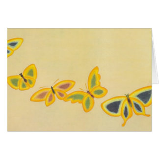 Vintage Five Butterflies - Card