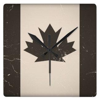 Vintage Flag Canada Square Wall Clock
