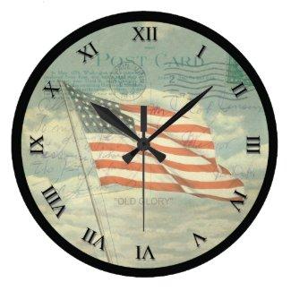 Vintage Flag Clock