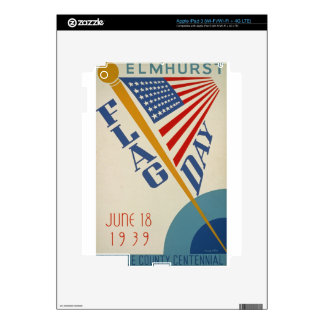 Vintage Flag Day Skin For iPad 3