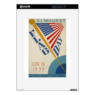 Vintage Flag Day Skins For The iPad