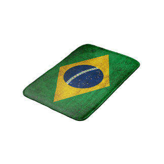 Vintage Flag of Brazil Bath Mat