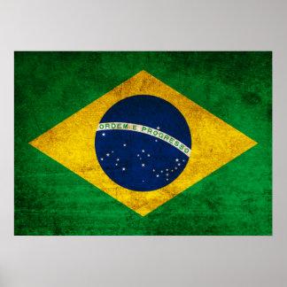 Vintage Flag of Brazil Poster