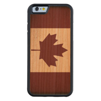 Vintage Flag of Canada Carved Cherry iPhone 6 Bumper Case