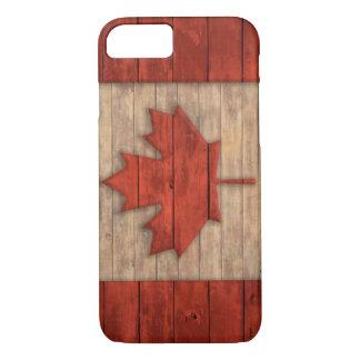Vintage Flag of Canada Distressed Wood Design iPhone 8/7 Case