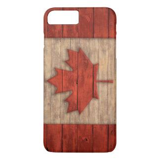 Vintage Flag of Canada Distressed Wood Design iPhone 8 Plus/7 Plus Case