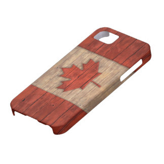 Vintage Flag of Canada Distressed Wood Design iPhone SE/5/5s Case