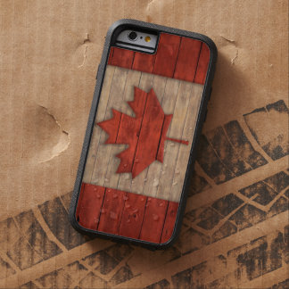 Vintage Flag of Canada Distressed Wood Design Tough Xtreme iPhone 6 Case