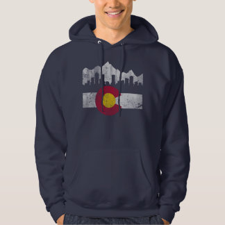 Vintage Flag of Colorado Skyline Hoodie