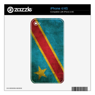 Vintage Flag of Democratic Republic of Congo Decal For The iPhone 4