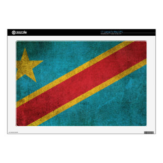 Vintage Flag of Democratic Republic of Congo Skins For Laptops