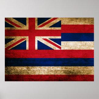 Vintage Flag of Hawaii Poster