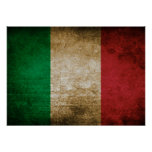 Vintage Flag of Italy Poster