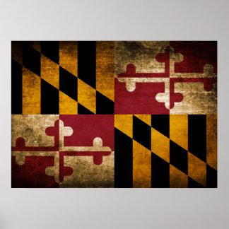 Vintage Flag of Maryland Poster