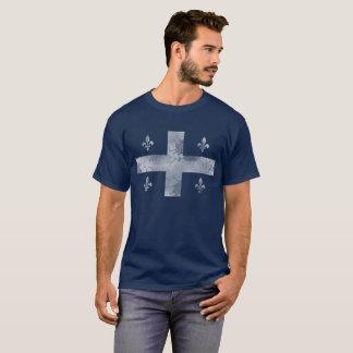 Vintage Flag of Quebec Canada T-Shirt