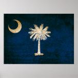 Vintage Flag of South Carolina Poster