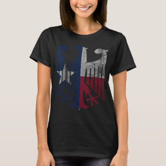 Vintage Flag of Texas German Eagle Heritage T-Shirt