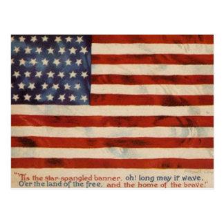 Vintage Flag Postcard