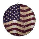 Vintage Flag United States 2 Dart Boards