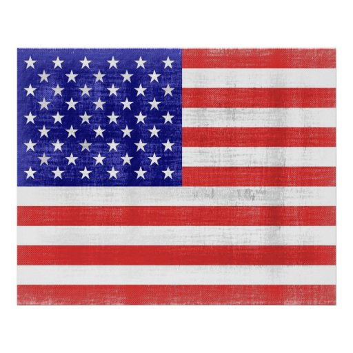 Vintage Flag United States Poster