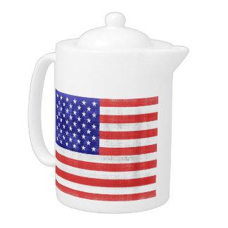 Vintage Flag United States Teapot