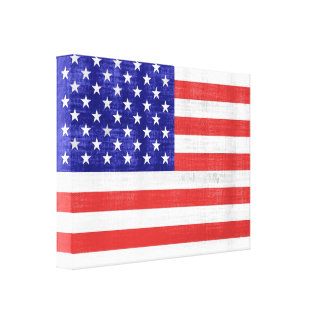 Vintage Flag United States Wrapped Canvas