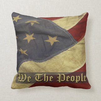 Vintage Flag, We The People Pillow