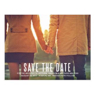 VINTAGE FLAIR | SAVE THE DATE ANNOUNCEMENT POSTCARD