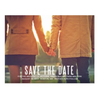 VINTAGE FLAIR | SAVE THE DATE ANNOUNCEMENT POSTCARD