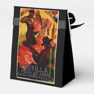 Vintage flamenco dancers Spanish Favor Box