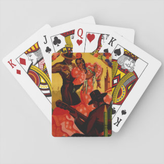 Vintage flamenco dancers Spanish Playing Cards