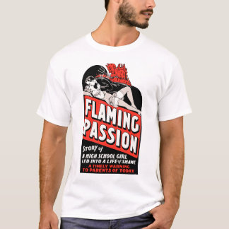 "Vintage ""Flaming Passion"" Movie Poster T-Shirt"