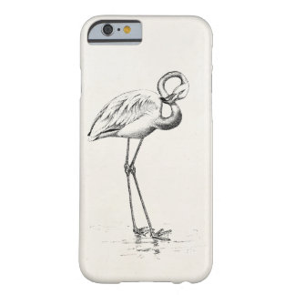 Vintage Flamingo Bird Antique Bird Template Barely There iPhone 6 Case