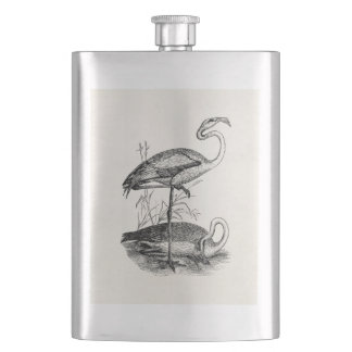 Vintage Flamingo Birds Tropical Flamingoes Bird Flask